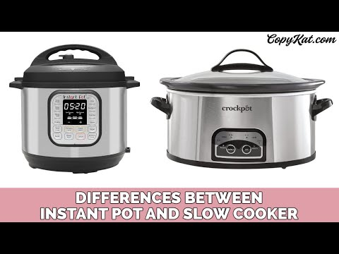Differences between an instant pot and a slow cooker