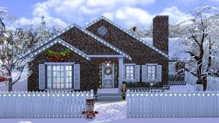 DAY 10 OF GIVEAWAYS!!! The Sims 4: CHRISTMAS HOUSE // NO CC