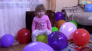 Learn Colors with Funny Baby Balloons & Baby Nursery Rhymes Finger Family Song