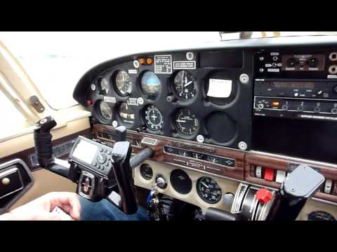 Checklist, run up and takeoff in a Piper Cherokee 180