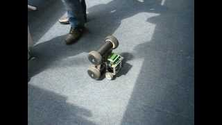 Quad Balance Robod is is trying to overthrow the small Balance Robot