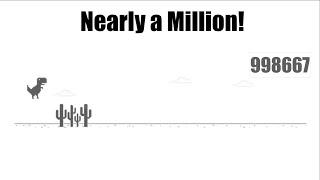 Bot Plays Chrome Dinosaur Game (Nearly Reaches a Million!)