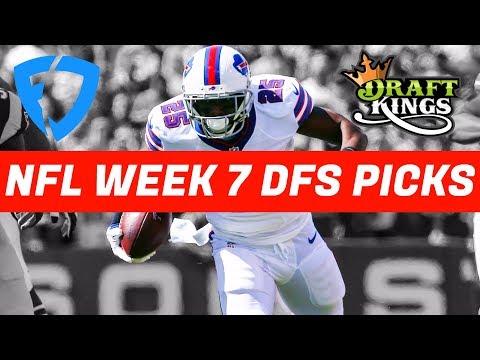 2017 Fantasy Football: Week 7 NFL DraftKings + FanDuel Picks & Preview