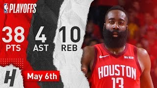 James Harden Full Game 4 Highlights Rockets vs Warriors 2019 NBA Playoffs - 38 Pts, 4 Ast, 10 Reb!