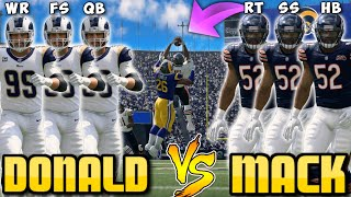 Team of KHALIL MACK'S vs AARON DONALD'S!! Best Player Tournament!