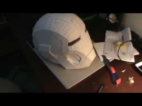 Iron Man Helmet Mark 42 pepakura / Capacete do homem de ferro mark 42 pepakura