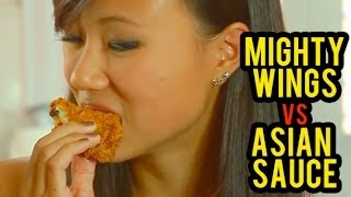ASIAN MEAL TIME: Mighty Wings vs Asian Sauces