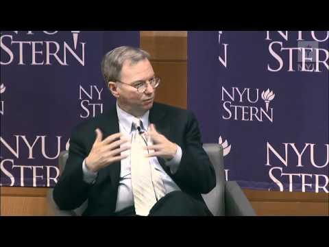 At NYU Stern: Eric Schmidt, Executive Chairman, Google, Inc. and Maria Bartiromo, Anchor, CNBC