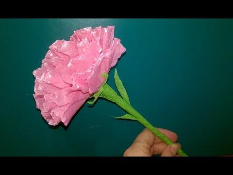 Как Сделать Цветы из Бумаги Гвоздика Роза Из Салфеток Своими Руками Поделки из Бумаги, Подарки!
