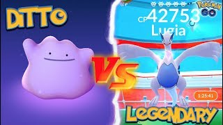 WHAT HAPPENS WHEN YOU USE A DITTO AGAINST A LEGENDARY IN POKÉMON GO?!
