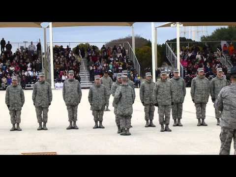 Air Force Bmt Graduation Jan 23, 2014, Lackland Afb Texas video