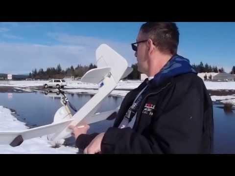 RC Seaplane, a dollar tree foam board Slowboat/Simple Soarer