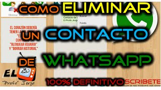 Como Eliminar definitivamente un Contacto de Whatsapp en Android, Iphone y BlackBerry | 2016