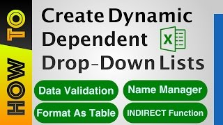 How To | Create Dependent Drop-down Lists in Excel
