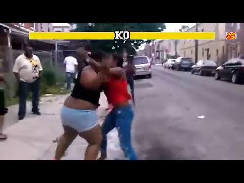 Gorda dandole una tremenda Paliza a 2 Mujeres Street Fighter Edition