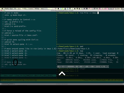 Pair Programming with Tmux Screencast