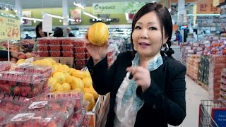 Korean Grocery Shopping: Rice & produce