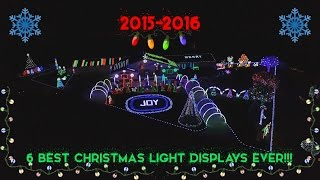 2015-2016 | 6 BEST CHRISTMAS LIGHT DISPLAYS EVER!!!