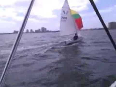 420 Solo Spinnaker Sailing