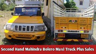 Second Hand Mahindra Bolero Maxi Truck Plus Sales