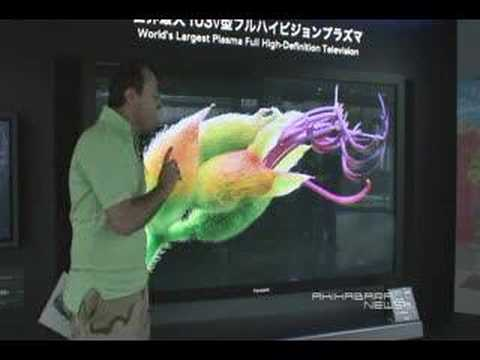 Panasonic 103 inch TV, The world largest Ful HD TV