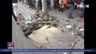"""""""Xe điên"""" đâm nhiều xe máy, ô tô trên phố Hà Nội"""