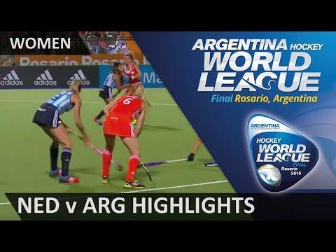 Netherlands v Argentina Match Highlights #HWL2015 #Rosario