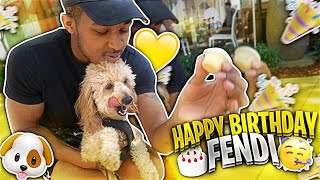 ME AND KENNEDY TOOK OUR DOG OUT FOR HIS 1ST BIRTHDAY!! HE'S SO EXCITED!!