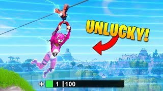 UNLUCKIEST ZIPLINE EVER! - Fortnite Fails & Epic Wins #44 (Fortnite Funny Moments)