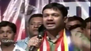 Kanhaiya Vibrant speech at Nagpur (Part-1) near RSS Head Quarters, Car attacked, Shoe Hurled 14 Apr
