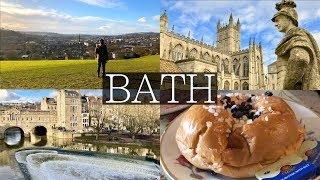 2 Days in BATH, UK VLOG | Roman Baths, Thermae Bath Spa, Hiking, Cafes, Royal Crescent