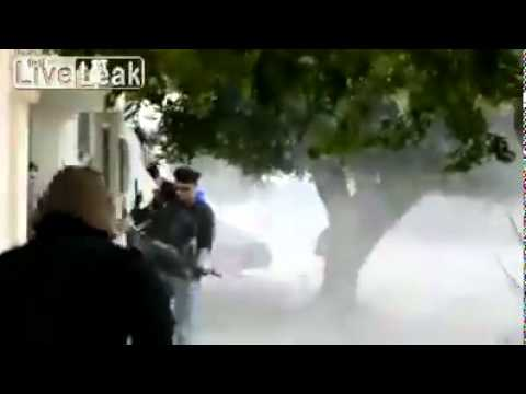 Libyan Civil War 2011: Street Footage of Rebels in Misurata