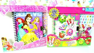 JUGUETES Diarios de Shopkins y Princesas Disney Journal Set Disney Princes +Shopkins