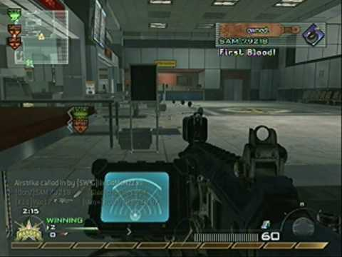CoD: MW2 Search and Destroy #1 10-0 on Terminal ACR (w/commentary) Video