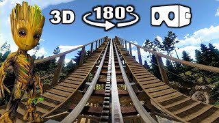Wooden Roller Coaster VR Video 180° 3D in Forest