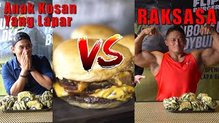 SENGIT!!! Battle Makan FLIP BURGER Lawan BODYBUILDER
