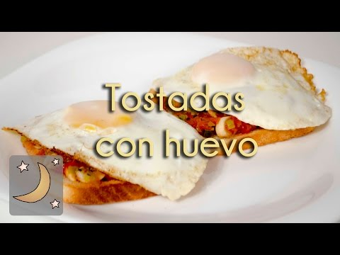 Tostadas Especiales con Huevo - Receta de Tostadas con Tomate, Cebolla y Huevo Frito!