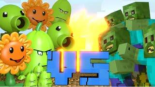 Minecraft | Plants Vs Zombies Movie Challenge - Plants vs Zombies Mod!