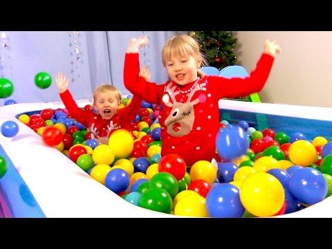 The Ball Pit Show for learning colors #3 Winterland -- children's educational video