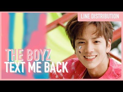 The Boyz - Text Me Back (Line Distribution)
