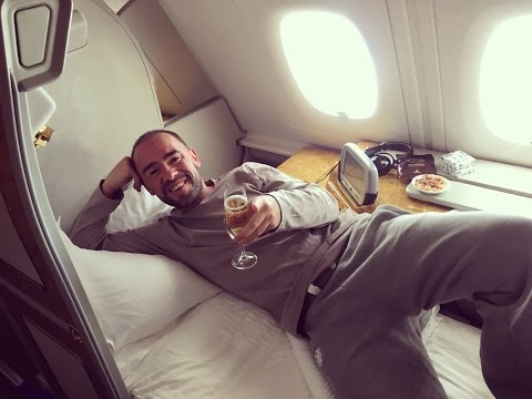 Emirates First Class Suite A380 Birthday Party, Dubai to Bangkok EK372