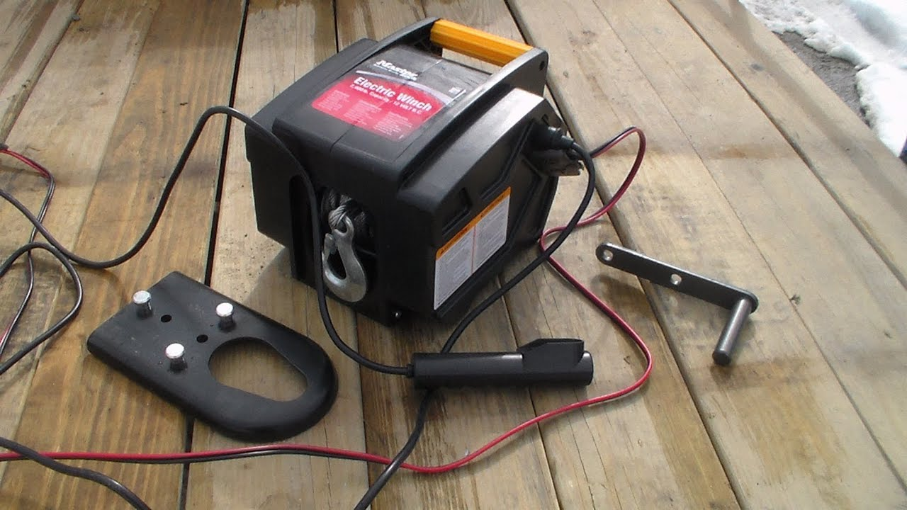 Master Lock 2953at 12 Volt Dc Portable Winch Youtube