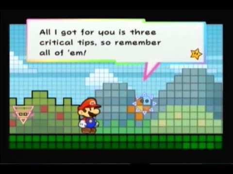 Super Paper Mario part 14--The BitLands the land of pixelated squares!