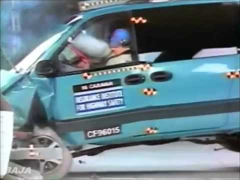 Dateline 1995, 1996, 1997 Minivan IIHS Crash Test.flv