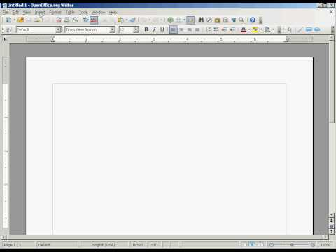 OpenOffice Tutorial: How to insert a Text Frame & Picture