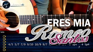 Eres Mia ROMEO SANTOS Guitarra Tutorial INTRO + SOLO (HD) Leccion Christianvib