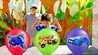 Surprise Toy with Balloons Kids Color Game Play Car Toys Video for Kids & Children