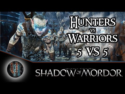 Middle-Earth: Shadow of Mordor - Hunters vs Warriors - 5 vs 5 AI Battle