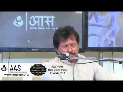 AAS ki ek shaam with Attaullah Khan