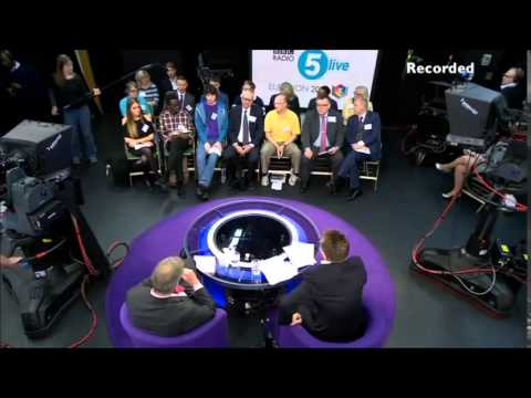 Nigel Farage (UKIP) Q&A on BBC 5 live, 17th April 2015, Pt 1